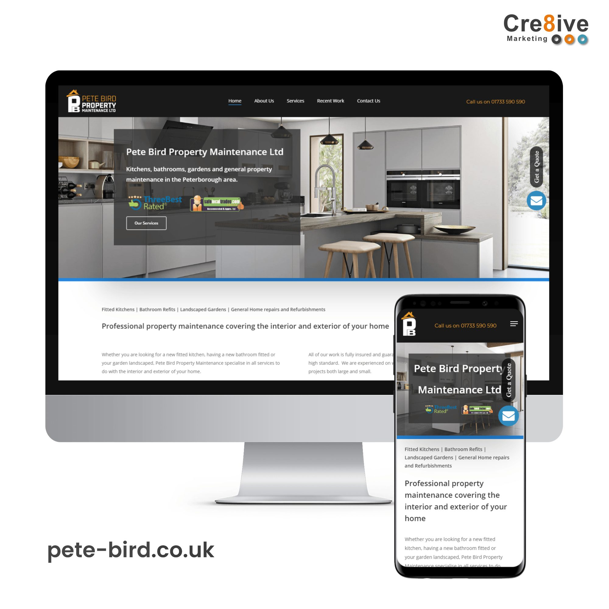 pete bird website design